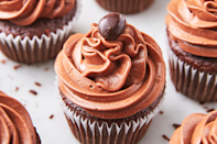 """<p>Boozy desserts are always welcome at our Halloween bash.</p><p><em><a href=""""https://www.delish.com/cooking/recipe-ideas/recipes/a56811/kahlua-chocolate-cupcakes-recipe/"""" rel=""""nofollow noopener"""" target=""""_blank"""" data-ylk=""""slk:Get the recipe from Delish »"""" class=""""link rapid-noclick-resp"""">Get the recipe from Delish »</a></em></p>"""