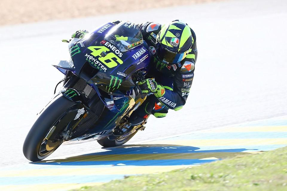 Rossi celebrating top fives like a win