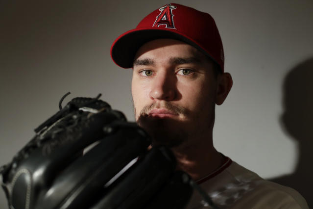 "<a class=""link rapid-noclick-resp"" href=""/mlb/players/9586/"" data-ylk=""slk:Andrew Heaney"">Andrew Heaney</a>, international man of mystery (AP Photo/Chris Carlson)"
