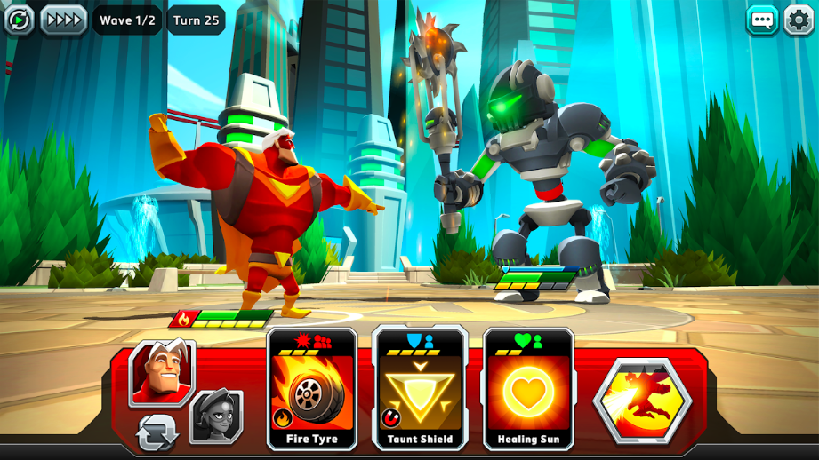 'Battlehand Heroes' lets you save the day with cards.