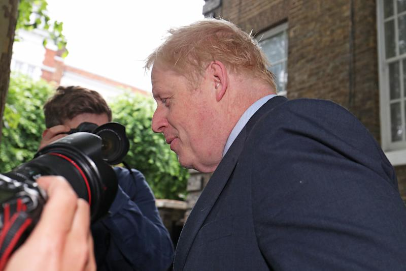 Conservative party leadership contender Boris Johnson leaves his home south London after refusing to take part in a debate between Tory leadership candidates. (PA Images)