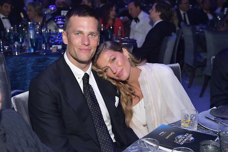 Tom Brady and Gisele Bündchen at an event in February 2019. (Stefanie Keenan via Getty Images)