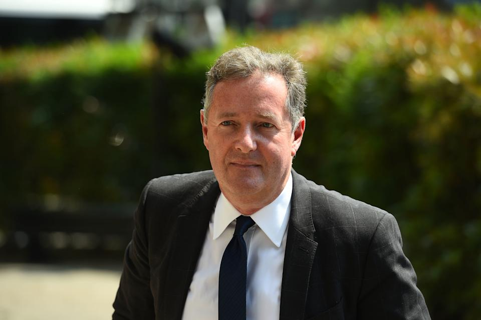 """File photo dated 22/05/18 of Piers Morgan, who accused Hugh Grant and Steve Coogan of """"helping"""" Boris Johnson achieve a """"landslide"""" after their calls for tactical voting appeared to have backfired."""