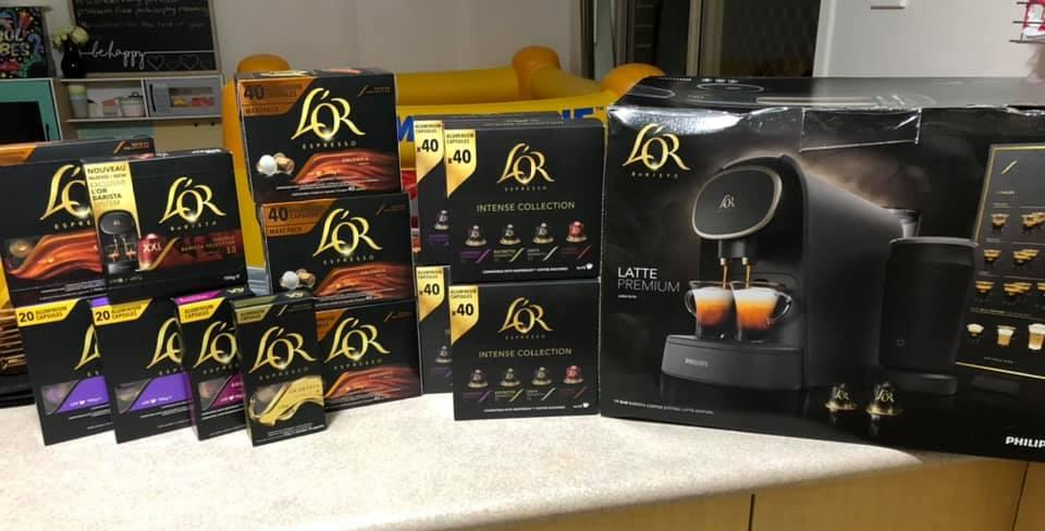 L'OR coffee pods with free coffee machine