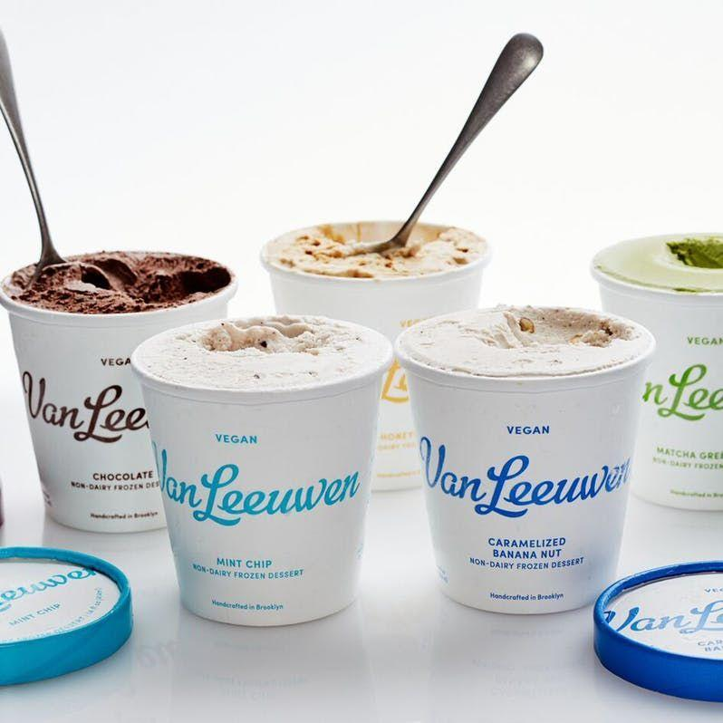 """<p>This Brooklyn-based artisanal brand actually started as an ice cream truck. Now, they sell their drool-worthy dairy-free (and full!) pints in grocery stores around the country. The vegan flavors, including Caramelized Banana Nut and Mint Chip, are made with cashew milk, organic coconut milk, organic extra virgin coconut oil, organic cane sugar, pure cocoa butter, and organic carob bean.</p><p><em>Our choice: Vegan Honeycomb</em></p><p><a class=""""link rapid-noclick-resp"""" href=""""https://vanleeuwenicecream.goldbelly.com/vegan-ice-cream-6-pack"""" rel=""""nofollow noopener"""" target=""""_blank"""" data-ylk=""""slk:BUY NOW"""">BUY NOW</a></p>"""