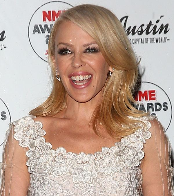 <br>While she's had many looks through the years, these days we're used to seeing Kylie Minogue with sleek blonde locks... Until now!