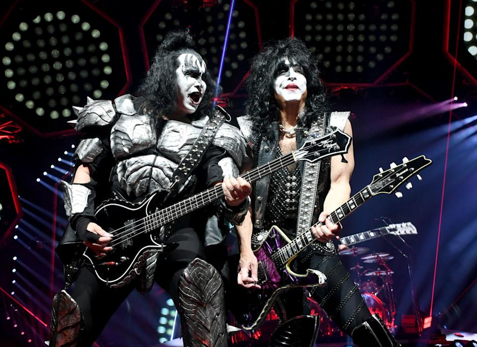 Gene Simmons and Paul Stanley of KISS perform in L.A. (Photo: Kevin Winter/Getty Images)