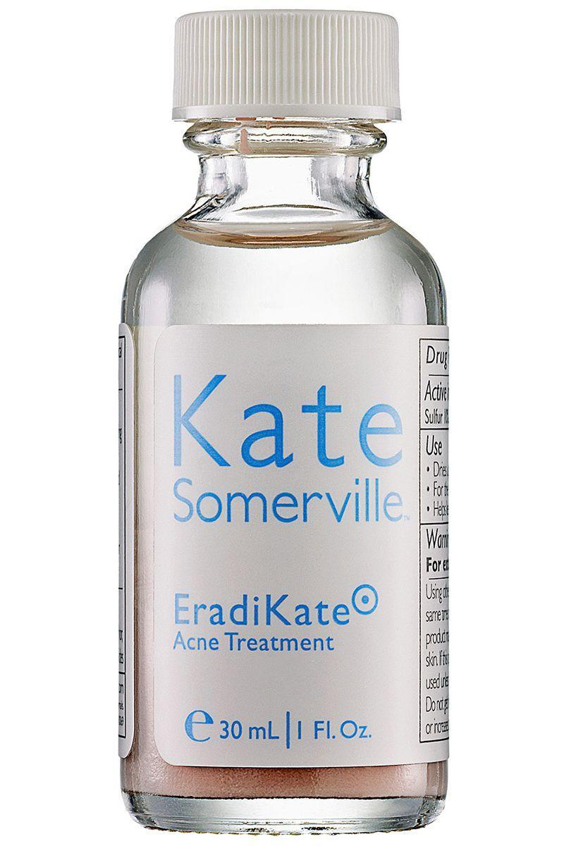 """<p>Wipe out red spots with pink ones: dab this rosy treatment onto blemishes at night and wake up with noticeably smaller pimples, thanks to oil-eliminating sulfur. </p><p><strong>Kate Somerville</strong> EradiKate Acne Treatment, $26, nordstrom.com.</p><p><a class=""""link rapid-noclick-resp"""" href=""""https://go.redirectingat.com?id=74968X1596630&url=http%3A%2F%2Fshop.nordstrom.com%2Fs%2Fkate-somerville-eradikate-acne-treatment%2F2990450&sref=https%3A%2F%2Fwww.harpersbazaar.com%2Fbeauty%2Fskin-care%2Fg11653081%2Fbest-acne-products%2F"""" rel=""""nofollow noopener"""" target=""""_blank"""" data-ylk=""""slk:SHOP"""">SHOP</a><br></p>"""