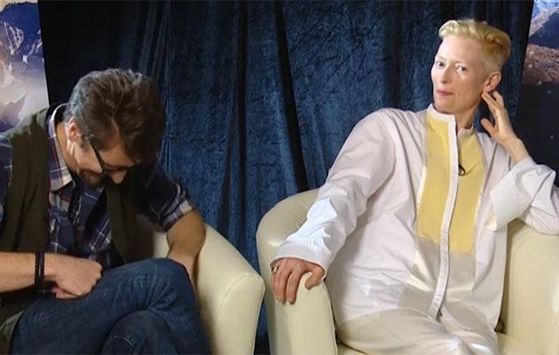 Tilda cracked Scott up by quizzing him over his Doctor Strange pitch.