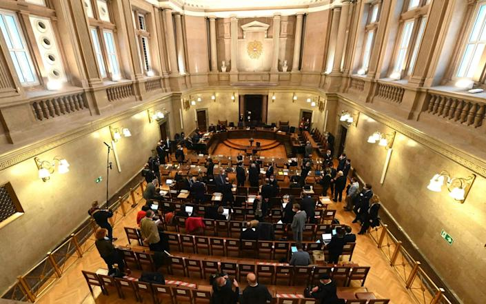 The courtroom in Vienna where Grasser was tried - HELMUT FOHRINGER/AFP