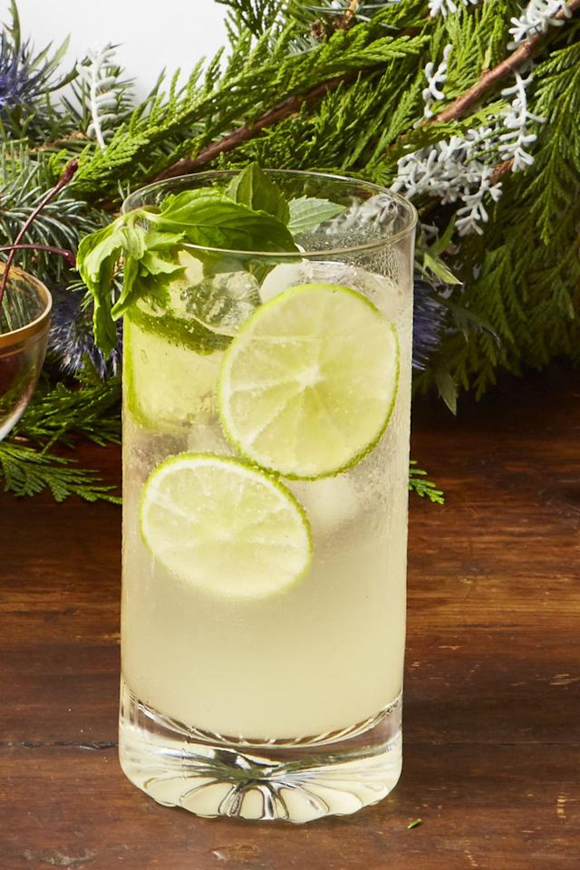 """<p>What's a holiday cocktail without <a rel=""""nofollow"""" href=""""https://www.goodhousekeeping.com/food-recipes/cooking/tips/g1691/uncork-champagne-bottle/"""">champagne</a>? Boring, that's what.</p><p><em><a rel=""""nofollow"""" href=""""https://www.goodhousekeeping.com/food-recipes/party-ideas/a25310946/sparkling-wine-mojito-punch-recipe/"""">Get the recipe for Sparkling Wine Mojito Punch »</a></em></p>"""