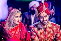 "The much loved TV celebs had a winter wedding back in January 2019, and the big fat ceremony was celebrated at a resort situated in Jaipur. They even had a lavish engagement party, followed by a string of pre-weddings occasions. The <em>Mariam Khan - Reporting Live</em> actress was resplendent, wrapped up in her heavily-embellished red ensemble, the groom adorned like a perfect ""Prince Charming"", couldn't have looked better."