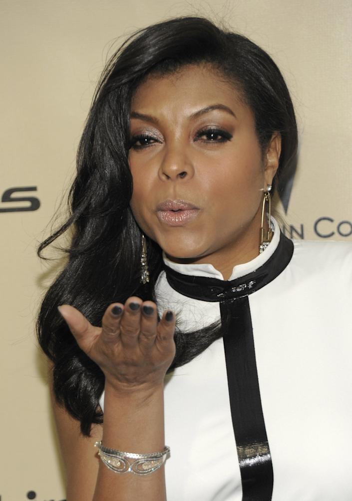Actress Taraji P. Henson arrives at the Weinstein Company Golden Globe After Party at the Beverly Hilton Hotel on Sunday Jan. 13, 2013, in Beverly Hills, Calif. (Photo by Dan Steinberg/Invision/AP)