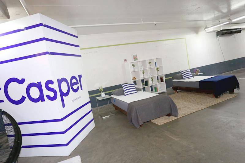 WEST HOLLYWOOD, CA - JULY 09: A view of the Casper mattresses during Casper's LA celebration at Blind Dragon on July 9, 2015 in West Hollywood, California. (Photo by Rachel Murray/Getty Images for Casper Sleep Inc.)