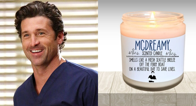 You can actually buy a Grey's Anatomy-scented candle that honours Derek Shepherd