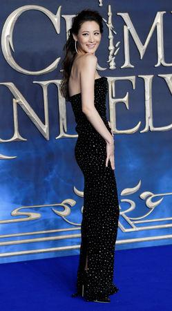 FILE PHOTO: Actor Claudia Kim attends the British premiere of 'Fantastic Beasts: The Crimes of Grindelwald' movie in London, Britain, November 13, 2018. REUTERS/Toby Melville