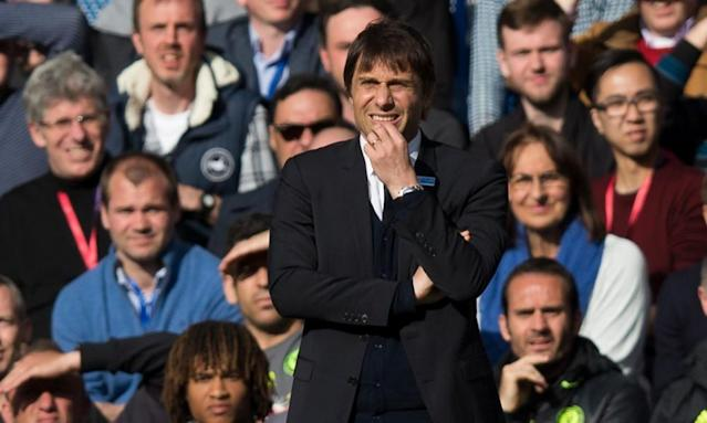 """<span class=""""element-image__caption"""">Chelsea's manager Antonio Conte was phlegmatic after seeing his side lose to Crystal Palace.</span> <span class=""""element-image__credit"""">Photograph: Craig Mercer - CameraSport/CameraSport via Getty Images</span>"""