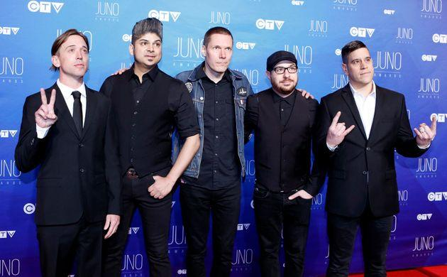 Billy Talent arrives on the red carpet for the 2017 Juno Awards in Ottawa on April 2, 2017.
