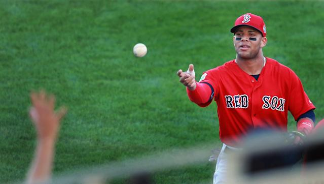 Yoan Moncada's path to the Red Sox started on Feb. 25, 2015. (Getty)