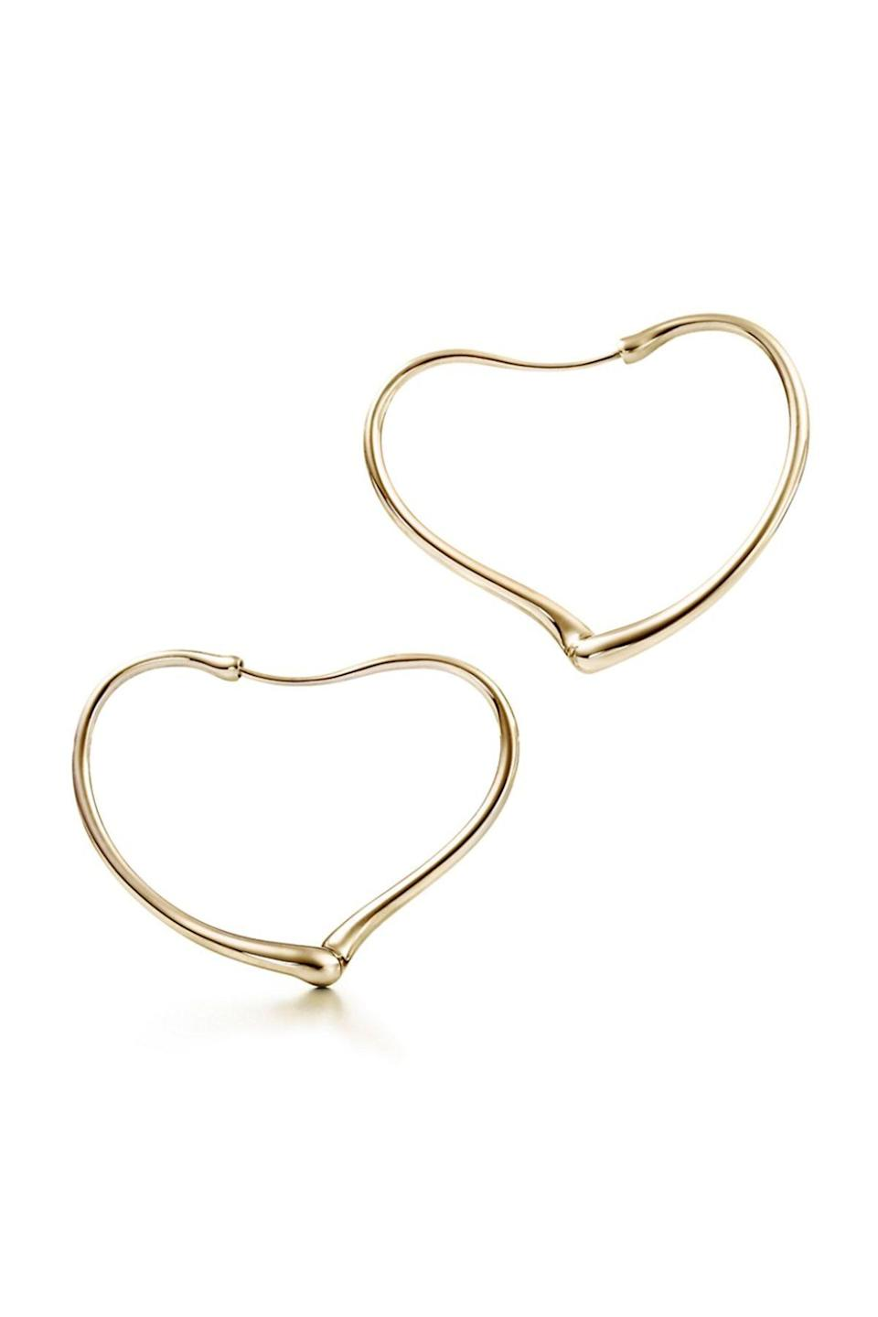 """<p><strong>Tiffany & Co.</strong></p><p>tiffany.com</p><p><strong>$3000.00</strong></p><p><a href=""""https://www.tiffany.com/jewelry/earrings/elsa-peretti-open-heart-hoop-earrings-GRP01649/"""" rel=""""nofollow noopener"""" target=""""_blank"""" data-ylk=""""slk:Shop Now"""" class=""""link rapid-noclick-resp"""">Shop Now</a></p><p>Relax so hard that even your hoops go with the flow. </p>"""