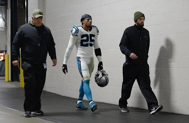 Carolina Panthers safety Eric Reid complained Monday after being selected for his seventh random drug test of the season (AFP Photo/Justin Berl)