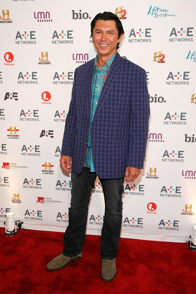 "Lou Diamond Phillips (A&E's ""Longmire"") attends the A&E Networks 2012 Upfront at Lincoln Center on May 9, 2012 in New York City."