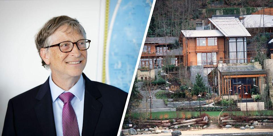 "<p>Bill Gates reportedly has a 2,500-square-foot trampoline room in his <a href=""https://www.elledecor.com/celebrity-style/celebrity-homes/a18660673/bill-gates-house-trampoline-room/"" rel=""nofollow noopener"" target=""_blank"" data-ylk=""slk:Medina, Washington home"" class=""link rapid-noclick-resp"">Medina, Washington home</a> (which has been referred to as Xanadu 2.0). The space has 20-foot ceilings, an exercise area with locker rooms, a sauna, and a steam room.</p>"