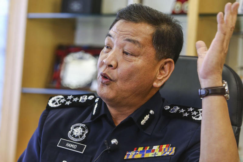 During a recent interview with the Malay Mail, IGP Datuk Seri Abdul Hamid Bador said the move to hold a superior officer accountable even when his lower-ranked officer is the one found guilty of a crime is the most effective way to keep his men in check. — Picture by Hari Anggara