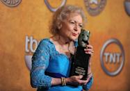 """<p>In 2010, White received the Lifetime Achievement Award at the Screen Actors Guild Awards. During <a href=""""https://www.youtube.com/watch?v=__k2z6n4eI4"""" rel=""""nofollow noopener"""" target=""""_blank"""" data-ylk=""""slk:her acceptance speech"""" class=""""link rapid-noclick-resp"""">her acceptance speech</a>, she said, """"I should be presenting an award to you for the privilege of working in this wonderful business all this time. And you still can't get rid of me! I was only 88 last Sunday, so I've got lots more stuff to do.""""<br></p>"""