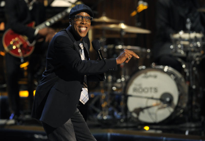 """FILE - This Nov. 3, 2012 file photo shows Arsenio Hall performing at """"Eddie Murphy: One Night Only,"""" a celebration of Murphy's career in Beverly Hills, Calif. After two decades, Hall is returning to late night television with """"The Arsenio Hall Show,"""" premiering on Sept. 9. (Photo by Chris Pizzello/Invision/AP, File)"""