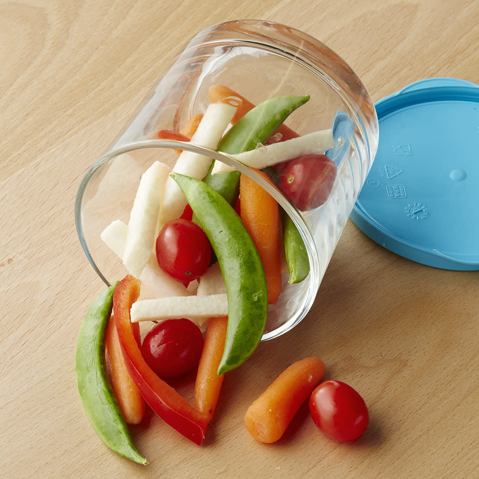<p>Long car ride ahead? Resist the urge to pack unhealthy chips and cookies for you and the kids. This healthy vegetable car snack is quick to prepare and can be served up in individual snack bags or pint-size storage containers so it's easier for those backseat folks to enjoy!</p>
