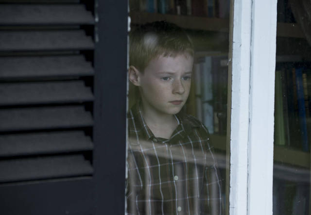 "Joey Matthews (Kyle Catlett) begins to miss his mother in the ""Mad Love"" episode of ""The Following."""