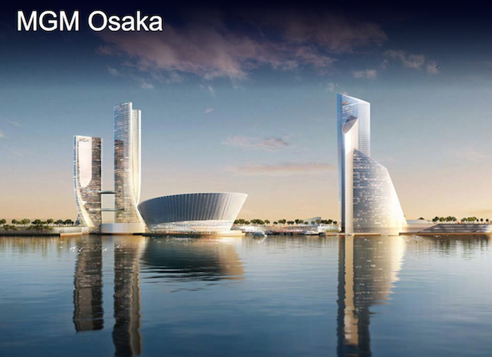 Rendering of an MGM resort in Osaka, Japan