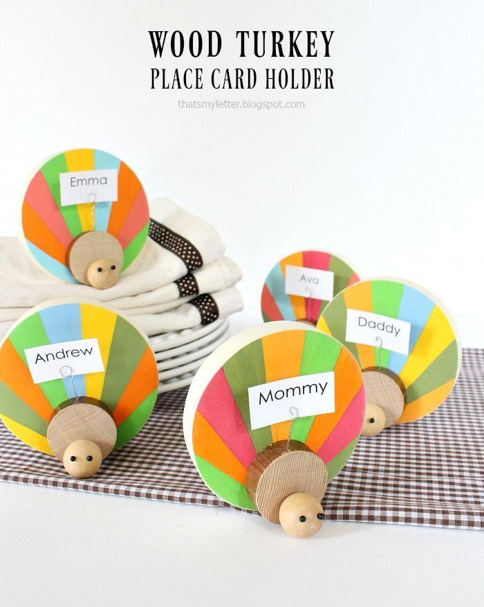 "<p>Turkeys don't have to be brown and beige and drab all over, you know! Here, they're livened up with the help of some acrylic craft paints—and they'll get to admired by all your guests come Thanksgiving day.</p><p><strong>Get the tutorial at <a href=""https://lollyjane.com/diy-wood-turkey-place-card-holders/"" rel=""nofollow noopener"" target=""_blank"" data-ylk=""slk:Lolly Jane"" class=""link rapid-noclick-resp"">Lolly Jane</a>. </strong></p><p><strong><a class=""link rapid-noclick-resp"" href=""https://www.amazon.com/Natural-Assorted-Handmade-Jewelry-Bracelet/dp/B07QJ3VSZR?tag=syn-yahoo-20&ascsubtag=%5Bartid%7C10050.g.22626432%5Bsrc%7Cyahoo-us"" rel=""nofollow noopener"" target=""_blank"" data-ylk=""slk:SHOP WOODEN BEADS"">SHOP WOODEN BEADS</a><br></strong></p>"