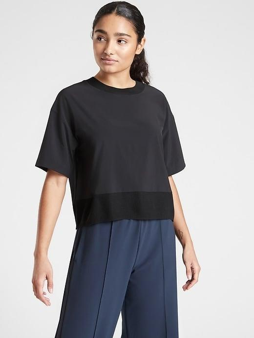 <p>This almost-silky <span>Athleta Zephyr Crop Tee</span> ($25, originally $79) is quick-drying and wrinkle-resistant no matter what your athletic - or nonathletic - endeavors entail.</p>