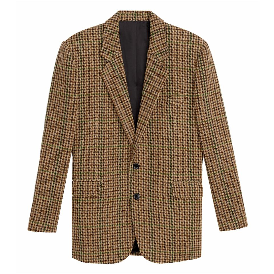 "<p>University style is infiltrating the board room and this houndstooth number will command attention this fall.</p> <p><strong>Buy Now:</strong> Celine, wool jacket in a brown and green houndstooth, $3,200, <a href=""https://www.celine.com/en-us/celine-shop-women/ready-to-wear/jackets-and-coats/-inchtournon-inch-jacket-in-checked-wool-2V441223F.19BZ.html#gclid=EAIaIQobChMIneyA9una5AIVh5-zCh03egX5EAAYASAAEgIcivD_BwE"">celine.com</a>.</p>"