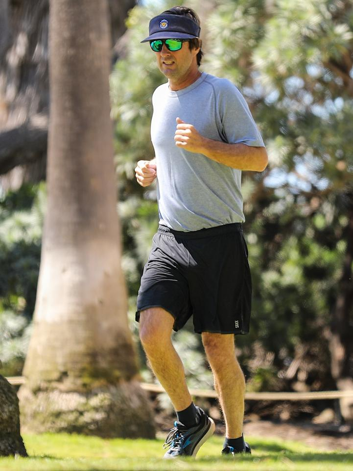 <p>Luke Wilson gets in a workout on Wednesday in Santa Monica, California.</p>