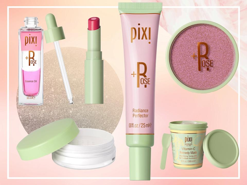 <p>Multi-tasking make-up products are a key theme in the collection</p> (The Independent/Pixi)