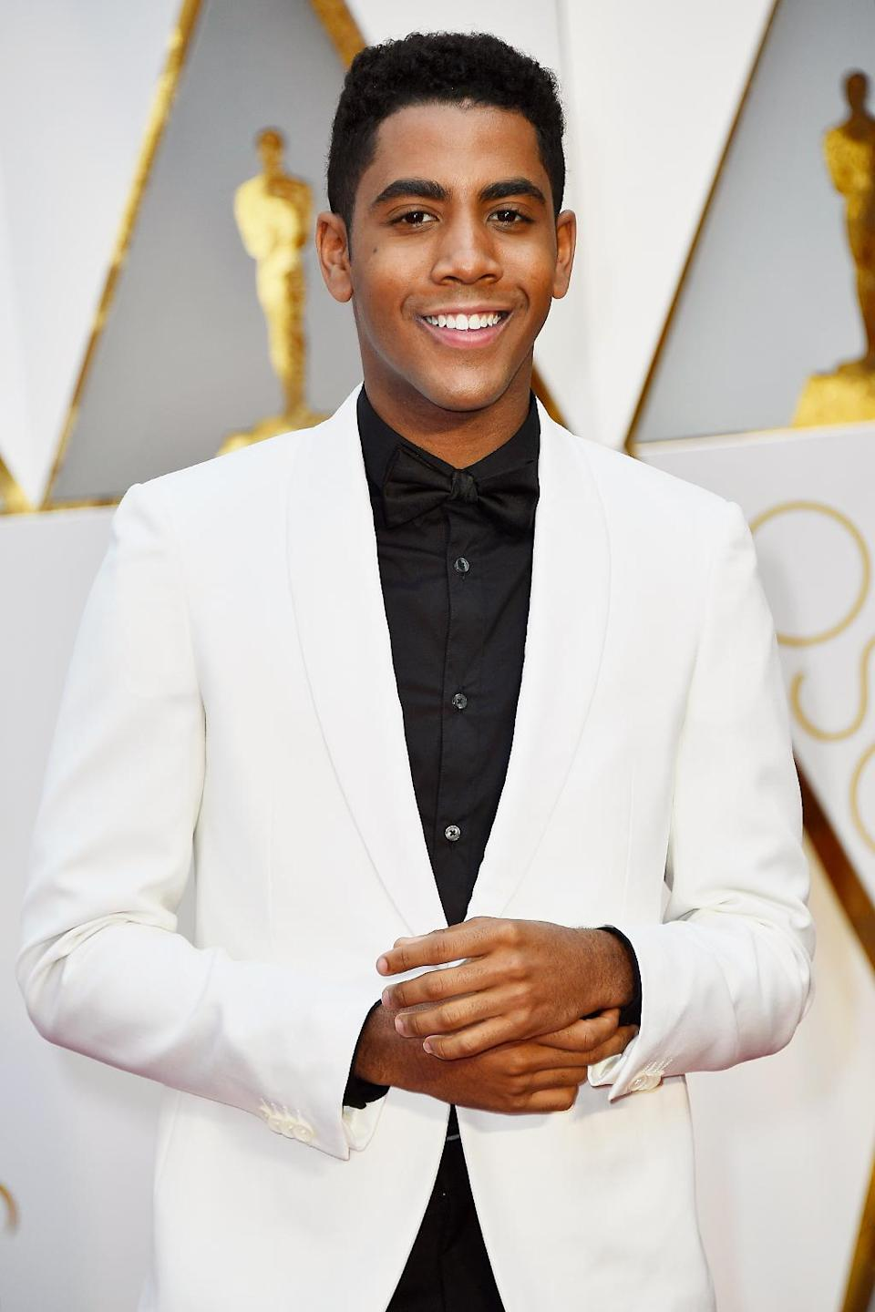 <p>Jharrel Jerome attends the 89th Annual Academy Awards at Hollywood & Highland Center on February 26, 2017 in Hollywood, California. (Photo by Frazer Harrison/Getty Images) </p>