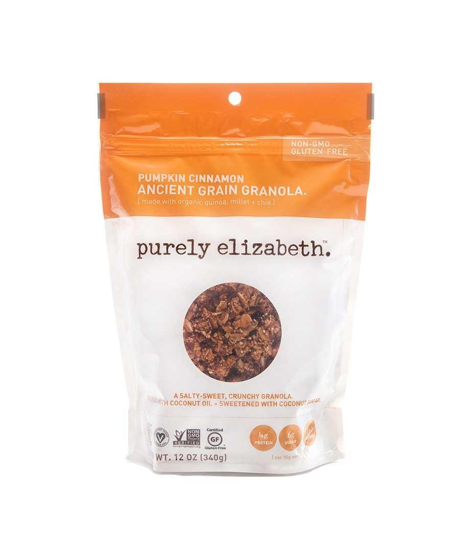 <p>You won't be able to stop eating this <span>Purely Elizabeth Pumpkin Cinnamon Ancient Grain Granola</span> ($21 for 3). It's a little bit sweet and a little bit spicy; we like it with yogurt or milk.</p>