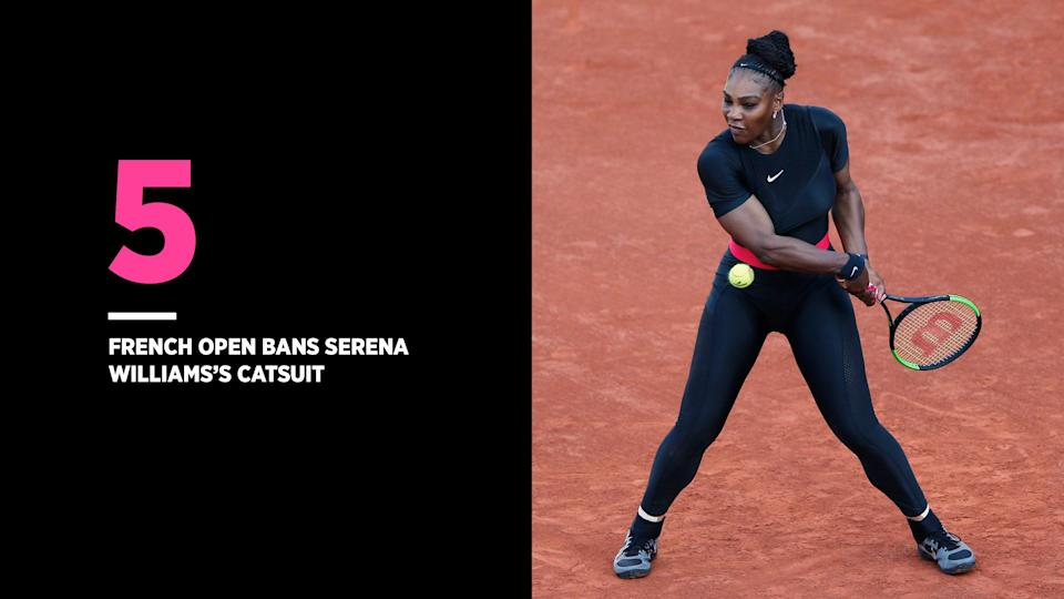 Serena Williams, who has a history of blood clots, wore a catsuit at the French Open to help with her circulation. (Photo: Getty Images)