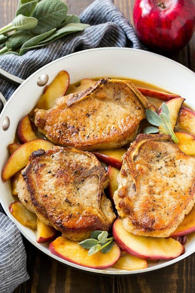 "<p>Make this easy weeknight meal in just 30 minutes.</p><p><strong>Get the recipe at <a href=""https://www.dinneratthezoo.com/apple-pork-chops/"" rel=""nofollow noopener"" target=""_blank"" data-ylk=""slk:Dinner at the Zoo"" class=""link rapid-noclick-resp"">Dinner at the Zoo</a>.</strong></p><p><strong><a class=""link rapid-noclick-resp"" href=""https://www.amazon.com/dp/B0061TWKWU/?tag=syn-yahoo-20&ascsubtag=%5Bartid%7C10050.g.650%5Bsrc%7Cyahoo-us"" rel=""nofollow noopener"" target=""_blank"" data-ylk=""slk:SHOP SLOW COOKERS"">SHOP SLOW COOKERS</a><br></strong></p>"