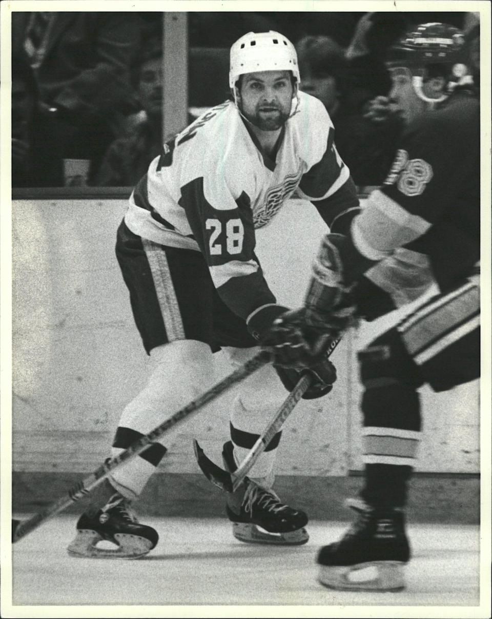 Defenseman Reed Larson was Detroit Red Wings captain for a season and a half from 1981-82.