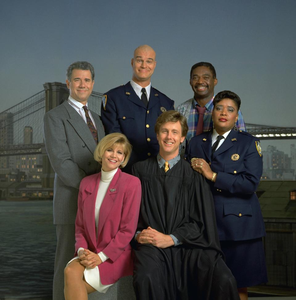 John Larroquette (top left) has paid tribute to former Night Court co-star Markie Post (bottom left) following news of her death from cancer. (Photo: NBCU Photo Bank/NBCUniversal via Getty Images via Getty Images)