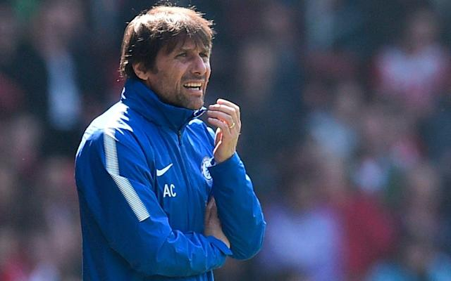 Antonio Conte, the Chelsea manager, is hoping to win the FA Cup next month despite having endured a disappointing period following a Premier League winning debut season in 2017 - AFP