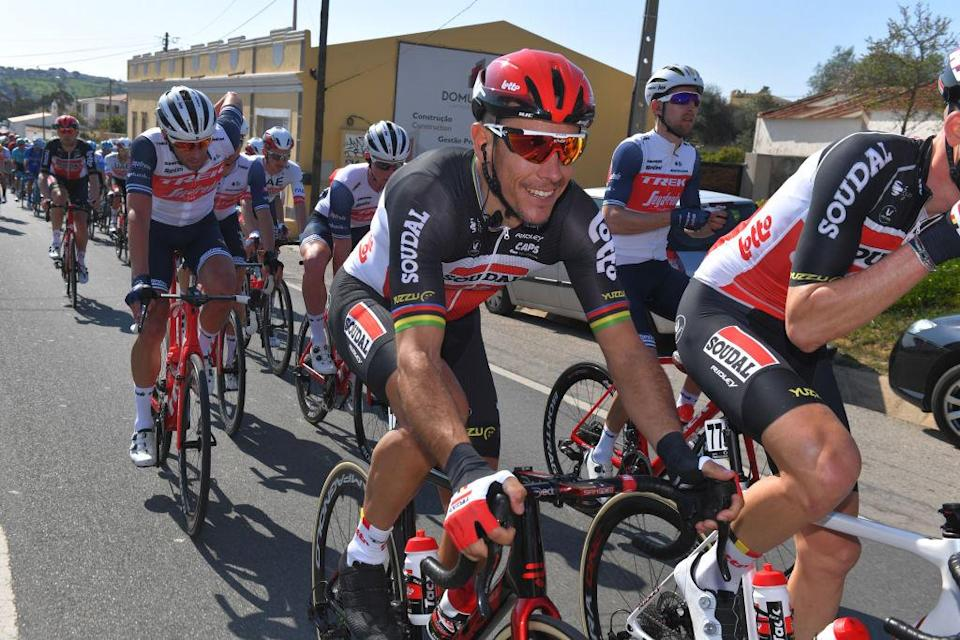 Lotto Soudal's Philippe Gilbert on the opening stage of the 2020 Volta ao Algarve