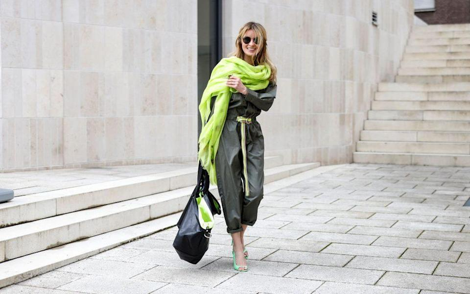 Pep up a muted outfit with a splash of neon - Getty