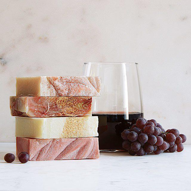 "<p><strong>UncommonGoods</strong></p><p>uncommongoods.com</p><p><strong>$28.00</strong></p><p><a href=""https://www.uncommongoods.com/product/wine-soaps-set-of-4"" rel=""nofollow noopener"" target=""_blank"" data-ylk=""slk:SHOP NOW"" class=""link rapid-noclick-resp"">SHOP NOW</a></p><p>Now she can soak in her <a href=""https://www.womansday.com/life/g3013/best-wine-gifts/"" rel=""nofollow noopener"" target=""_blank"" data-ylk=""slk:favorite wine"" class=""link rapid-noclick-resp"">favorite wine</a> flavors with these soothing soap bars.</p>"