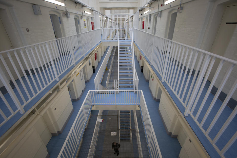 The B Wing facility for newly-arrived prisoners at HMP Liverpool, also known as Walton Prison. The prison was given a scathing report in 2017 which pointed out various failings and problems. Present governor Pia Sinha was appointed in that year and in the next two years she turned the prison around with a programme of improvements and support for inmates and infrastructure. HMP Liverpool houses a maximum of 700 prisoners with an overall staff of around 250. (Photo by Colin McPherson/Corbis via Getty Images)