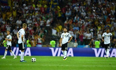 Soccer Football - World Cup - Group F - Germany vs Sweden - Fisht Stadium, Sochi, Russia - June 23, 2018 Germany's Ilkay Gundogan looks dejected after Sweden's Ola Toivonen (not pictured) scored their first goal REUTERS/Dylan Martinez